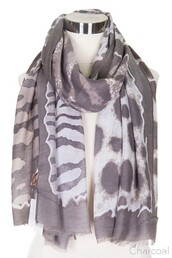 scarf,charcoal gray,charcoal,animal print