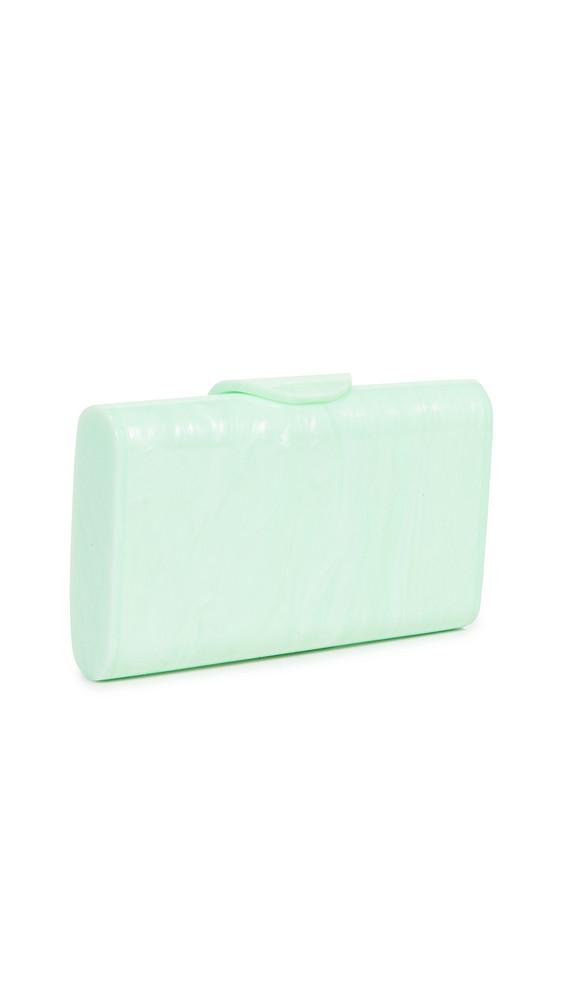 Edie Parker Mini Lara Solid Clutch in green