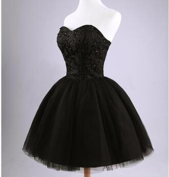 dress black black dress tutu black tutu dress lace up corset top sweetheart dress sleeveless