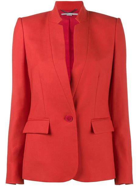 Stella McCartney blazer women cotton wool red jacket