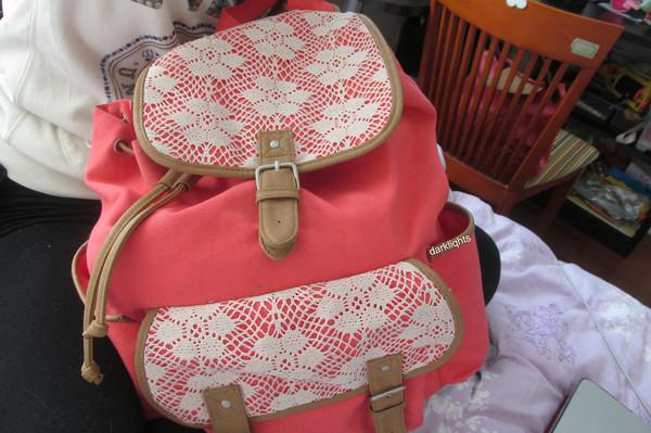 bag backpack cute pink school bag back to school school bag
