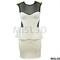 Womens ladies spiked stud mesh insert frill shift peplum skirt bodycon dress | ebay