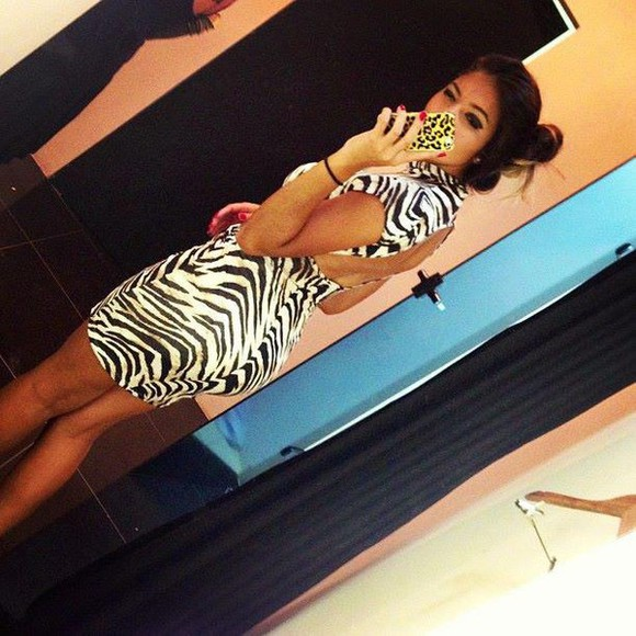 dress zebra animal print high heels