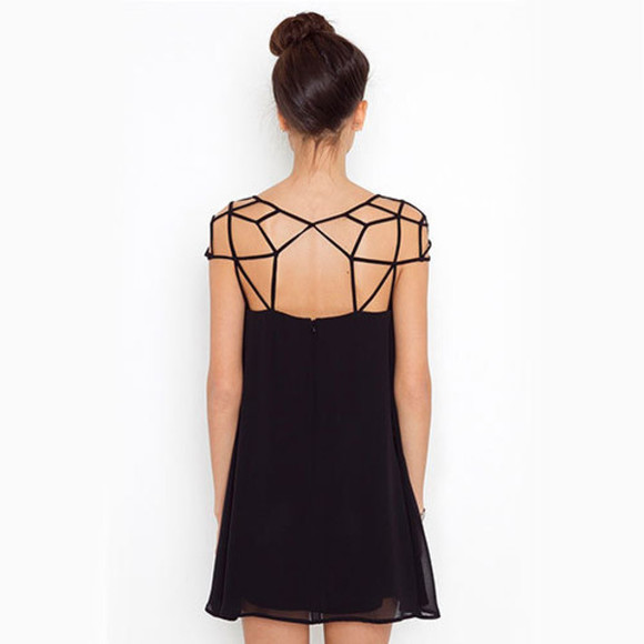 geometric clothes t-shirt little black dress