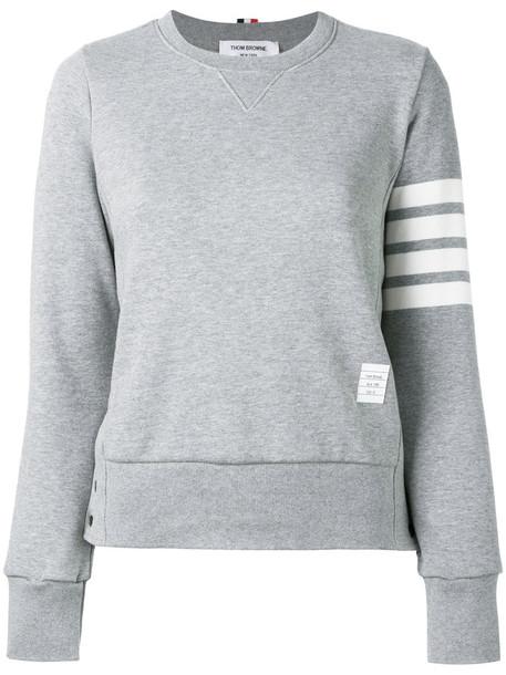 Thom Browne sweatshirt women cotton grey sweater