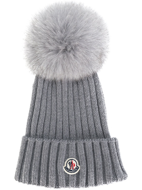 classic hat beanie knitted beanie grey