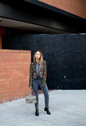 always judging,blogger,embellished jacket,mom jeans,grey jeans,chloe bag,designer bag,dionysus,boho jacket