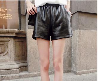 high waisted shorts leather shorts snake skin
