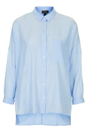 Oversized Chambray Shirt - Topshop USA