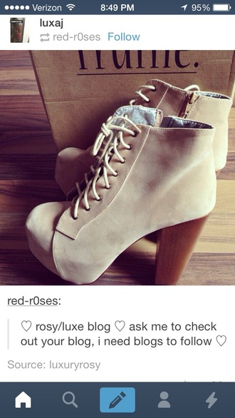 shoes style boots platform boots cute boots tan boots lace up ankle boots tan lace up booties