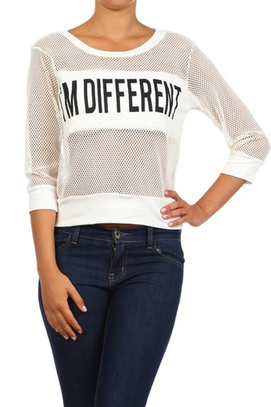 I'm Different Net Sweater