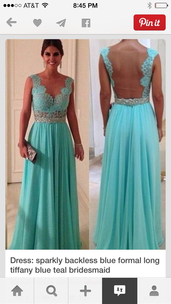 dress tiffany blue