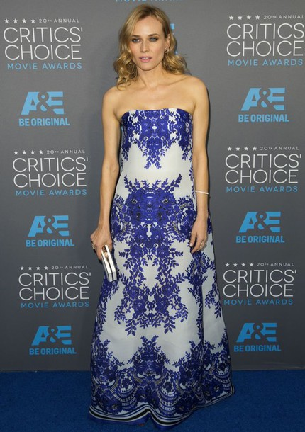 diane kruger gown bustier dress dress