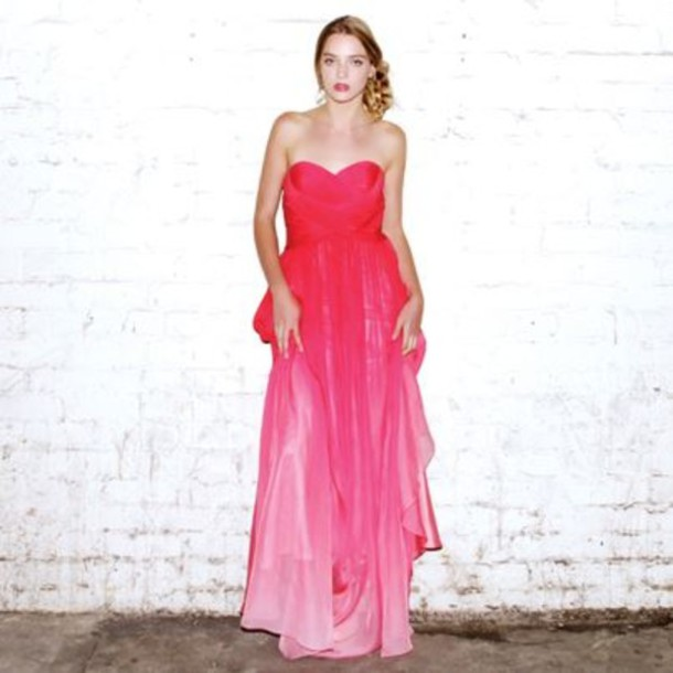 dress, clothes, pink, ball gown dress, gown, prom, girl, formal ...
