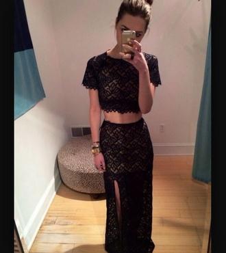 dress black dress two piece dress set
