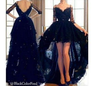 dress black dress lace lace dress high low dress sabrina carpenter
