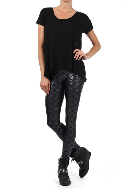 Mermaid Noir Leggings Black | POPRAGEOUS