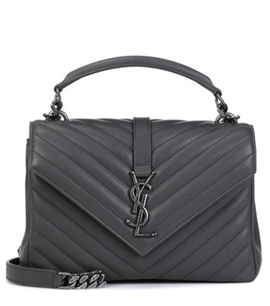 Saint Laurent bag shoulder bag leather grey
