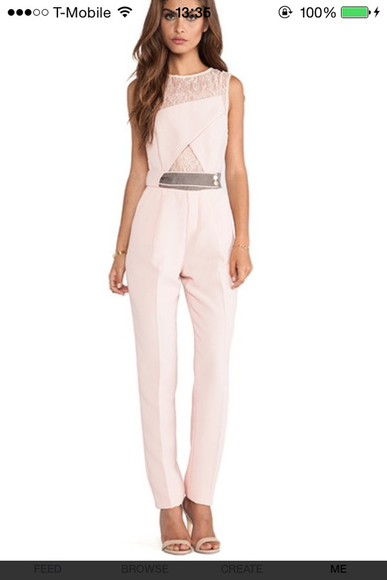 formal jumpsuit covet fashion nude lace