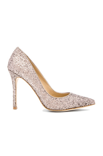 heel metallic silver shoes