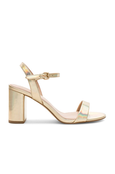 BCBGeneration heel metallic gold shoes
