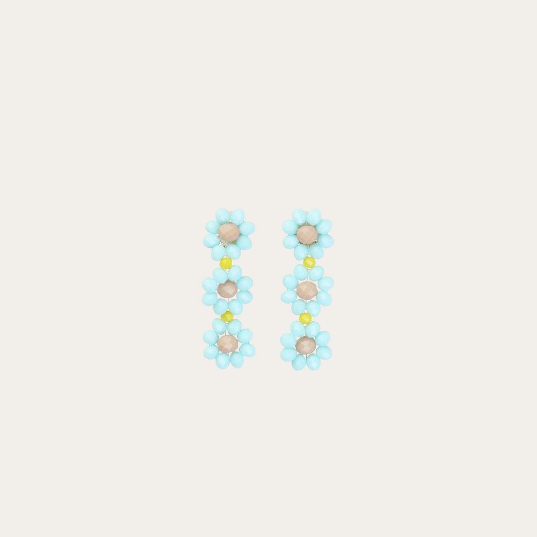 Tiscar Glass Beads Flower Earrings - Candy - Stine Goya