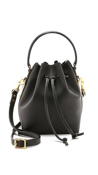 drawstring bag bucket bag black