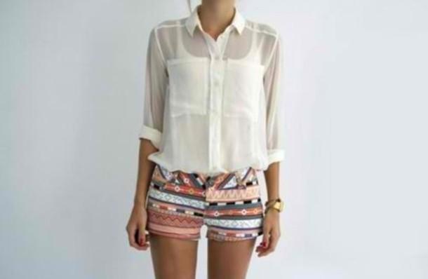 shorts aztec blouse short nice printed shorts High waisted shorts pants skirt style summer outfits cardigan