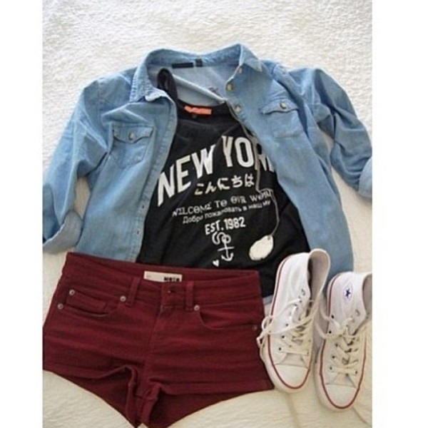 shorts red dress jeans converse red denim jacket hipster hippie tumblr shoes shirt t-shirt hipster t-shirt
