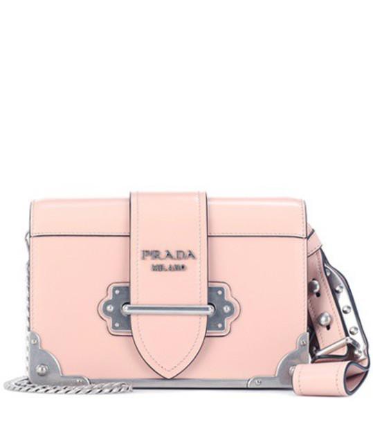 Prada bag shoulder bag leather pink