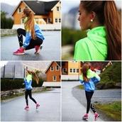 jacket,sports jacket,running jacket,windbreaker,nike,green blue nike vapor reflective jacket