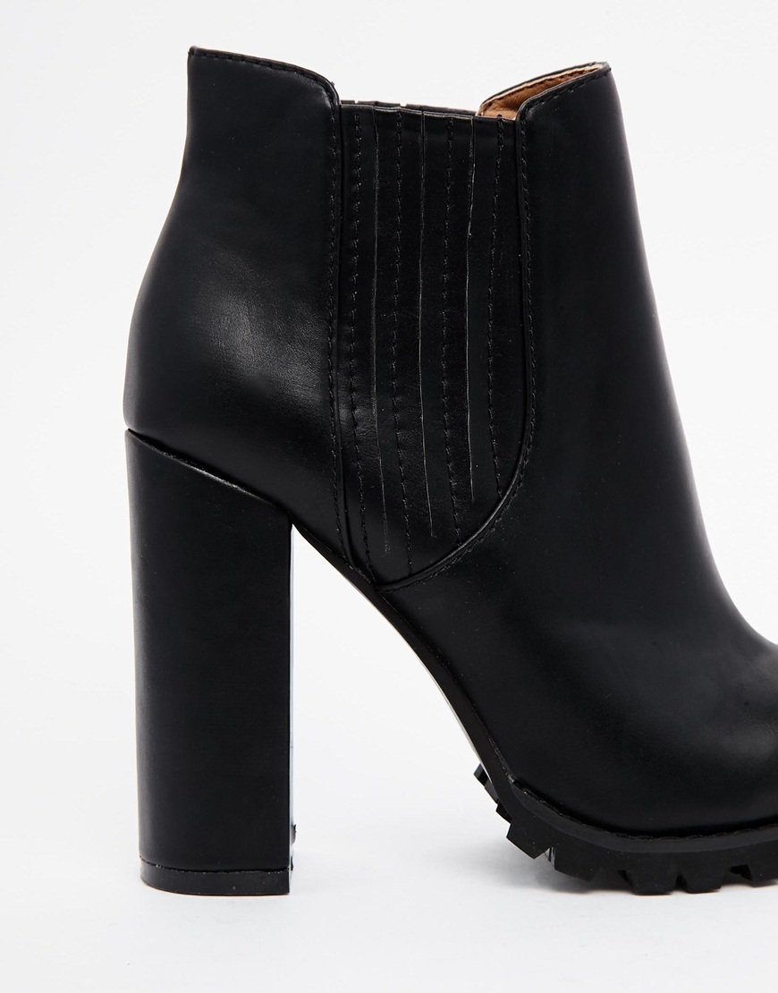 ASOS EASY MONEY Pointed Chelsea Ankle Boots at asos.com