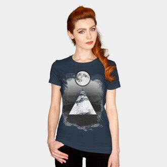 t-shirt space stars moon abstract surrealism fantasy women's t-shirt men's t shirt