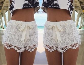 shorts lace shorts white shorts