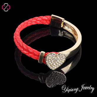 jewels charm bracelet leather bracelets heart