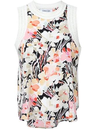 tank top top floral print