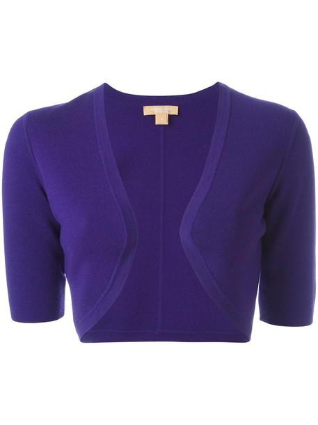 Michael Kors cardigan cardigan short open women purple pink sweater