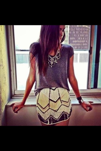 glitter skirt boho azthek jewels sparkly yellow