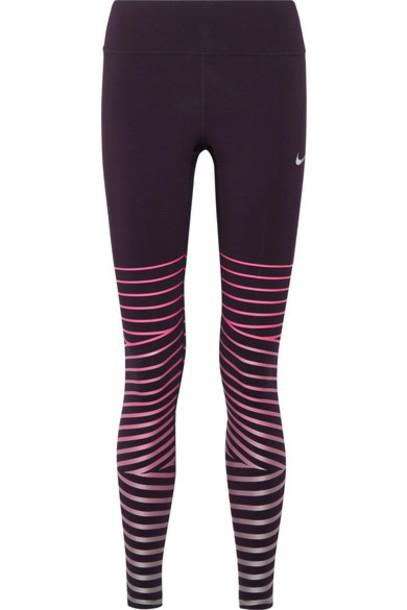 Nike leggings metallic fit pants