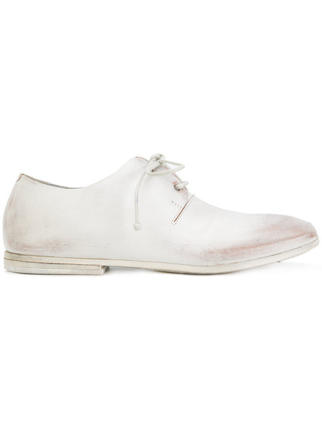 women shoes lace-up shoes lace leather white