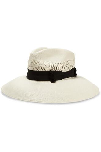 open weave hat white