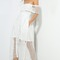 White one shoulder lace dress puffy skirt on storenvy