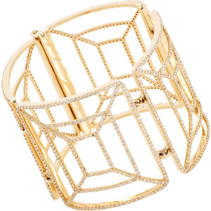 Anna Lou of London Studded 14KT Gold Plated Enamel Bangles - Polyvore