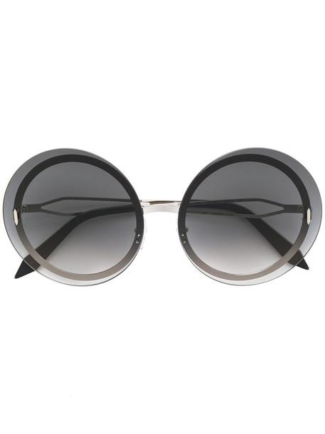 Victoria Beckham metal women sunglasses round sunglasses black