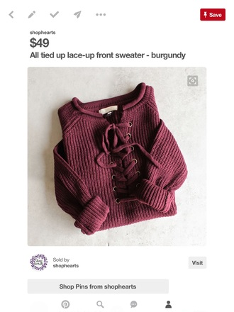sweater lace up jumper lace up burgundy sweater burgundy