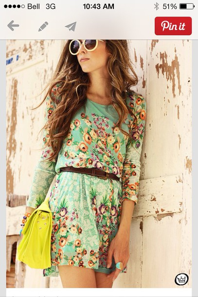 dress mint long sleeves short
