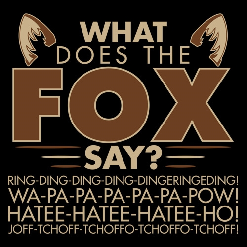 What does the fox say lyrics song - photo#49