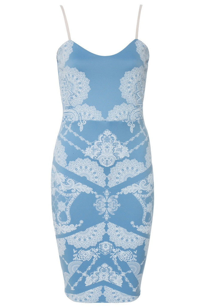 """""""blue horizon"""" laces illusion bodycon dress – glamzelle"""