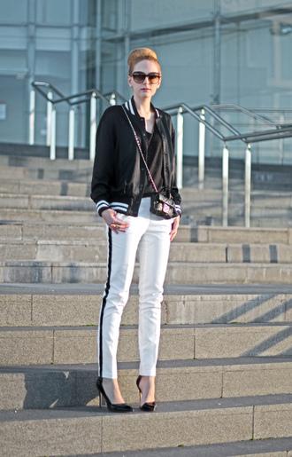 oh my vogue jacket pants t-shirt bag shoes jewels sunglasses
