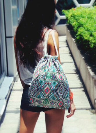 bag boho boho backpack tribal bag cotton bag boho bag coachella fashion bohemain trendy